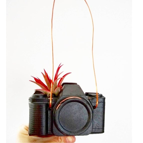 Concrete Camera/Camera Air Plant Holder/Photographer Gift/Air Plant holder/Camera Decor/Concrete Decor/Photographer Lover/Industrial