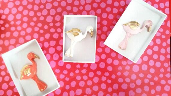 Flamingo Lapel Pin/Tropical Pin/Flamingos/Beach lover/tropical decor/tropical jewelry