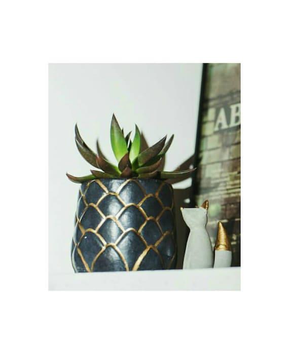 Pineapple Planter/Air Plant Holder/Desk Planter/Pineapple decor/New Home Gift/Housewarming Gift/Succulent Planter/Modern Planter