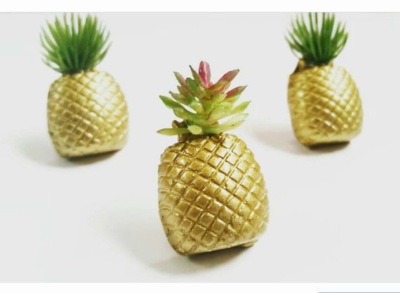 3 Pineapple Magnets, or push pins