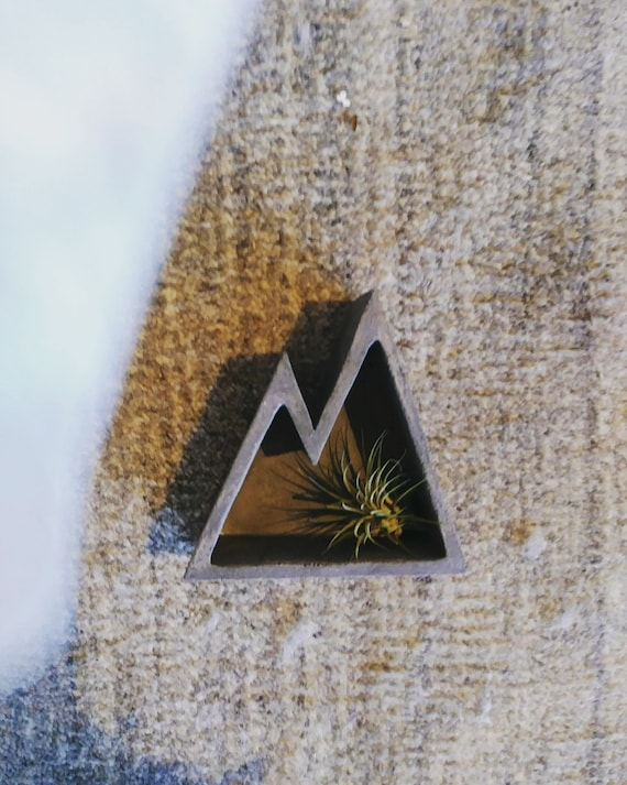 Concrete Mountain Shelf Decor/Air Plant Holder/Modern Mountain/Concrete Decor/Mountain lover/Industrial decor
