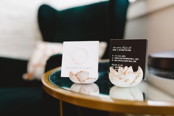 Concrete Succulent Business Card Holder/Cactus Decor/Modern Office Decor/place card/Boss gift/Desk Decor/wedding decor/Business cardholder