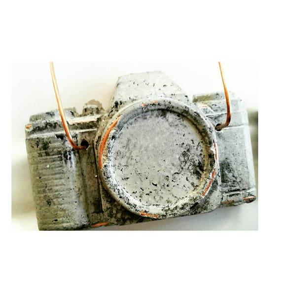 Concrete Camera/Camera Air Plant Holder/Photographer Gift/Air Plant holder/Camera Decor/Concrete Decor/Photographer Lover/Industrial