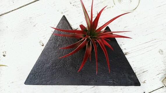 Black Concrete/Mountain Decor/Air Plant Holder/Modern Mountain/Concrete Decor/Jewelry Holder/Mountain lover/Industrial decor