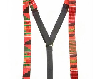 African American Suspenders, African Gift, Black Girl Magic, Earth Tones, Cultural Accessories, African Baby Dashiki Braces, Graduation