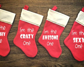funny personalized family christmas stocking one stocking christmas decor home decor stockings christmas stocking fireplace holiday
