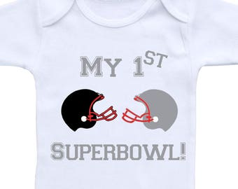 Baby Football Outfit or Gerber Onesie® My First Superbowl Superbowl Onesie® Football Onesie® Football Onsie Football Baby Boy