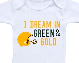 Football Baby Outfit or Gerber Onesie® Cute Baby Onesies® Football Baby Shower Packers Onesie® Football Onesie® Green Bay Baby Gift Boy Gift