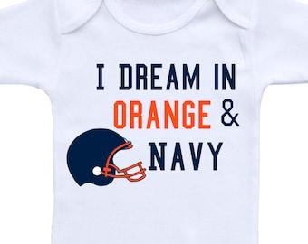Baby Football Outfit or Gerber Onesie® Cute Baby Onesies® Broncos Onesie® Broncos Baby Clothes Football Onesie® Football Baby Shower Gift
