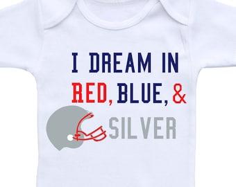 Baby Football Outfit or Gerber Onesie® Cute Baby Onesies® Patriots Onesie® Patriots Baby Gift Football Onesie® Football Baby Boy Shower Gift