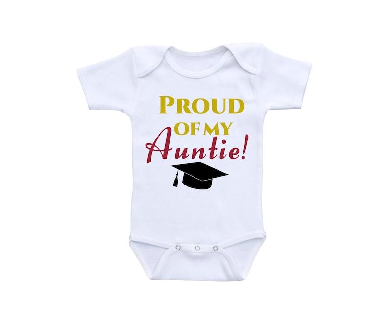 972dd3630 Auntie Shirt or Gerber Onesie Graduation Onesie Proud of you | Etsy