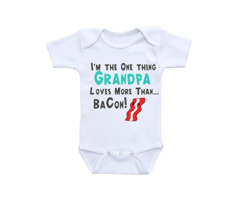 7b76a213c Bacon Baby Shirt or Gerber Onesie® Grandpa Onesie® Funny Baby