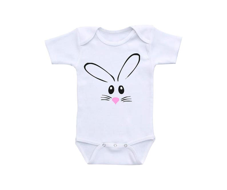 6f0ff2a1c10e7 Bunny Baby Outfit or Gerber onesie® Cute Baby Onesies® Bunny | Etsy