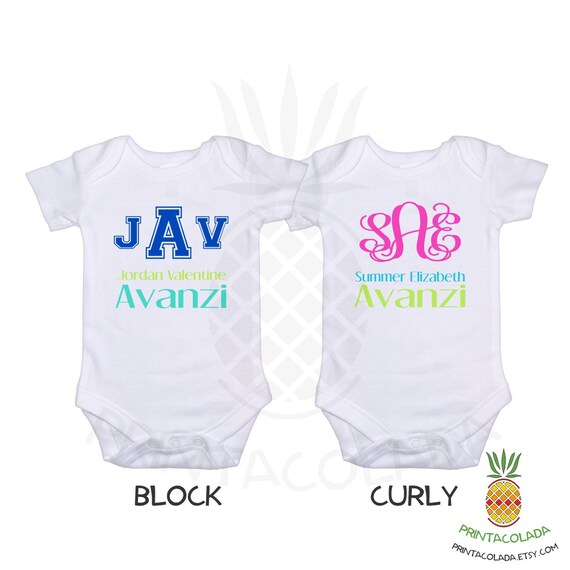 57adc2ce60be3 Personalized Baby Gift or Gerber Onesie Custom Name Onesie Monogram Baby  Onesie Monogram Baby Boy Clothes Baby Girl Gift Coming Home Outfit