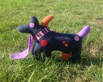 Handmade Dog Soft Toy - DerpDog - Quirky, cute, handmade plushie - Soft toy / Plushie / Stuffed animal