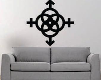 M+F+M+F symbol vinyl wall decal