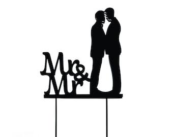 Mr & Mr Wedding Cake Topper