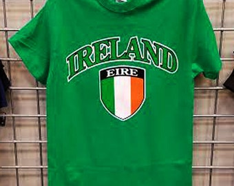 d72b602ccc2a88 Ireland-Soccer T-Shirt Irish Eire Flag Green S-3XL Youth Sizes