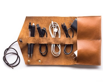 The Partikular Travel Cord Roll (pocketed)