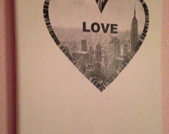 Canvas with LOVE heart