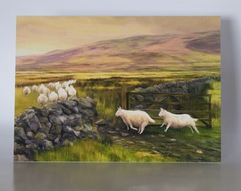 """Following the Tup - 5"""" x 7"""" greetings card c/w with white envelope and packed in cellobag"""
