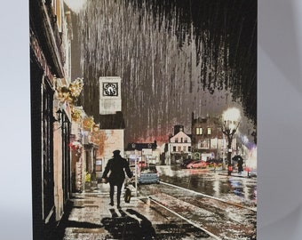 """Moffat - Another Rainy Day - 5"""" x 7"""" greetings card c/w with white envelope and packed in cellobag"""