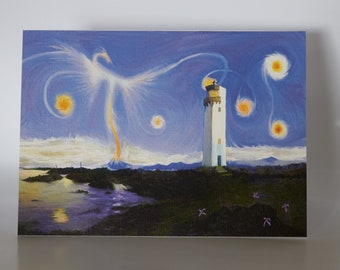 """Southerness - Starry Night - 5"""" x 7"""" greetings card c/w with white envelope and packed in cellobag"""