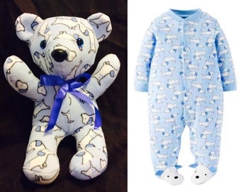 Keepsake Bear made from baby sleeper/pajamas