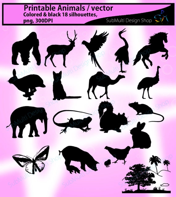 picture about Printable Silhouette Templates titled animal silhouette / Pets SVG Reducing Templates / Superior