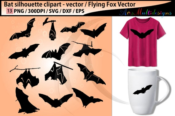 photo regarding Bird Silhouette Printable referred to as bat silhouettes svg / vector bat chook / SVG Superior High quality