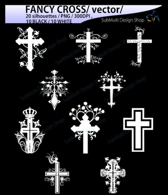 Fancy Cross Silhouette 20 Fancy Cross Svg Silhouettes Vector
