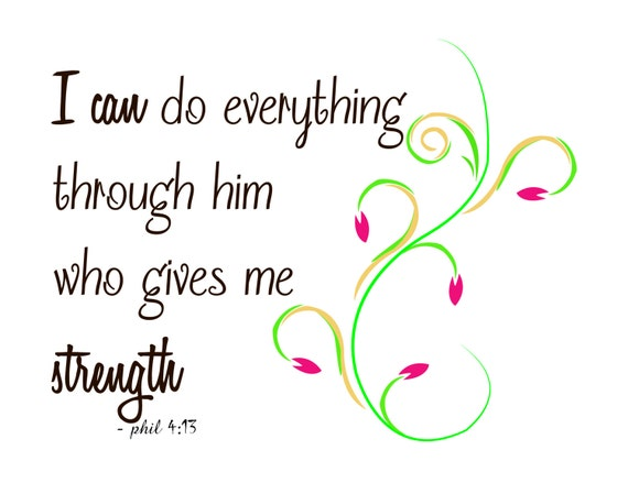 I Can Do Everything Quotes Svg Cutting File, Eps, Png And Jpg / Life Quote  / Bible Quote / Bible Verses Quote Silhouette / Svg Cut File From ...