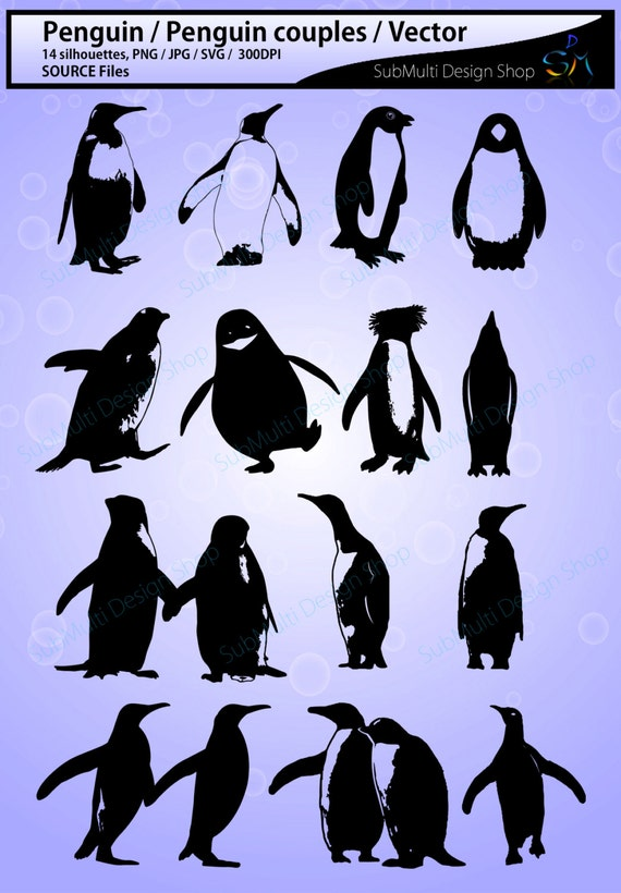 Penguin Silhouette Svg Penguin High Quality Silhouettes