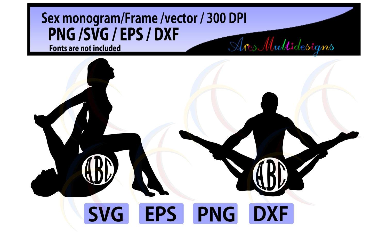 Sex Monogramm Frames SVG Datei schneiden / sex Svg / Monogramm | Etsy
