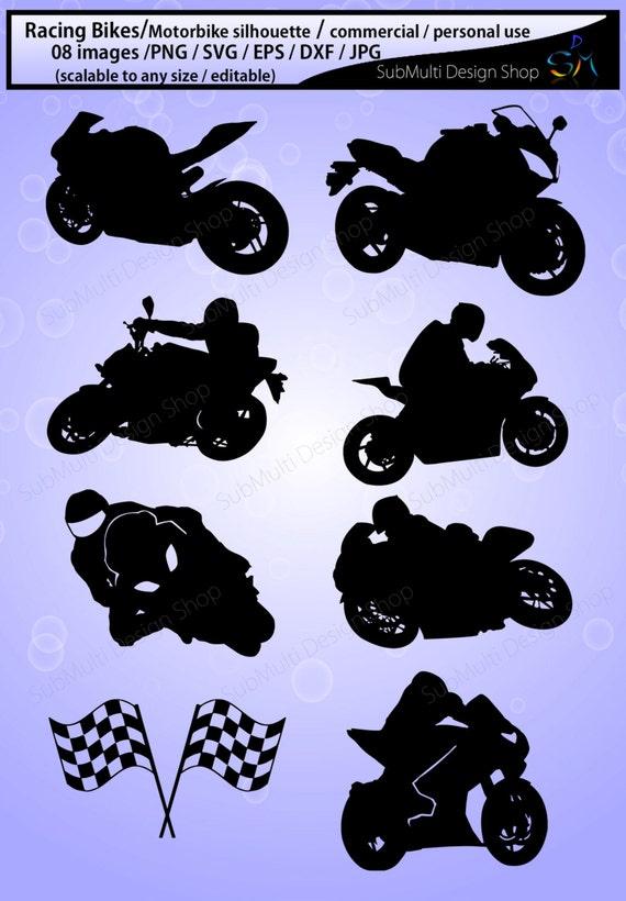 Racing Bike Silhouette Motorbike Silhouette Sports Bike Etsy