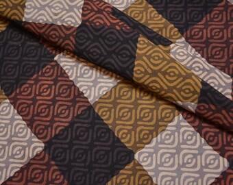 Multicolor Geometric Block Print Fabric By The Yard