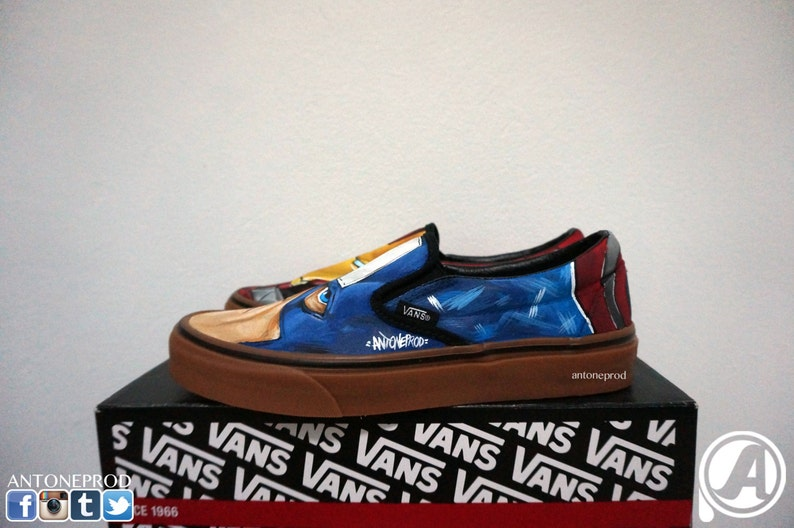 e9e4038933 Pair of sneakers Vans Classic slip-on custom Iron man X