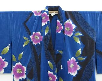 US Seller 30 Width by half yard 100/% cotton Fabric Butterfly fabric Floral fabric Yukata kimono Fabric Japanese fabric