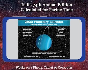 The 2022 Planetary Calendar Mobile Version
