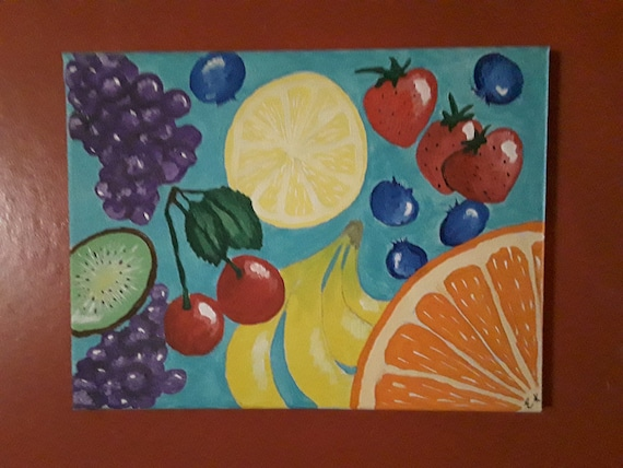 Acrylic Fruit Painting Canvas Painting Fruit