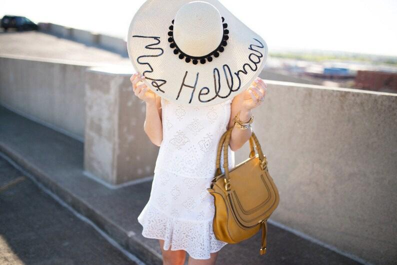dce526f101e Custom Women s Pom Pom Floppy Sun Hat