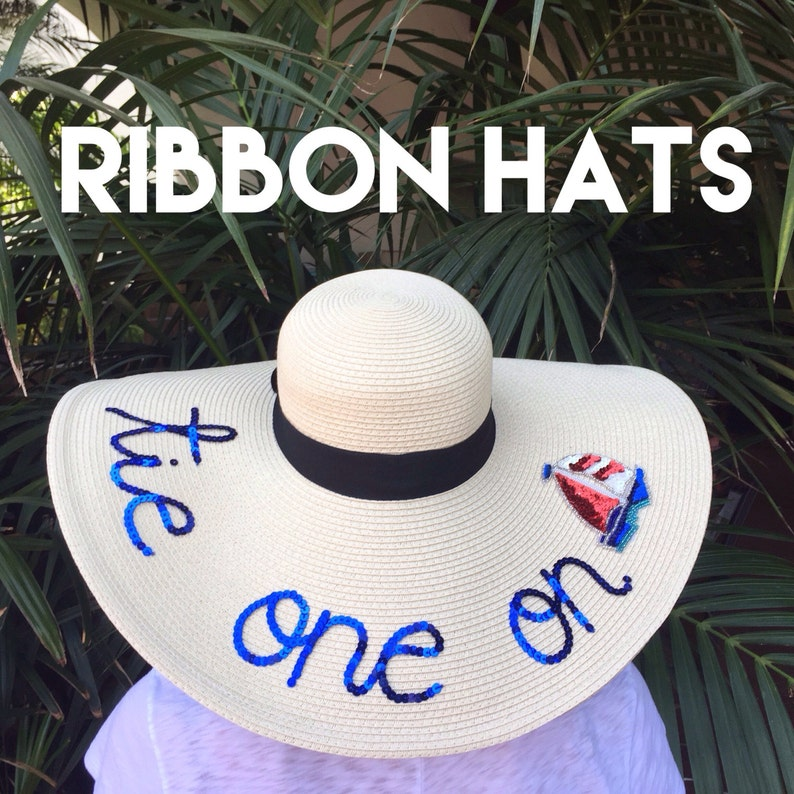 7a9b473efd8ceb Women's Ribbon Floppy Sun Hat   Etsy