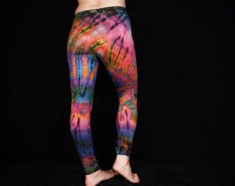 daca5b2373 Tie Dye Leggings Yoga Pants Women's Men's Unisex Ladies Meggings Pink and  Blue Rainbow Tie Dye Patterned Exercise Pants