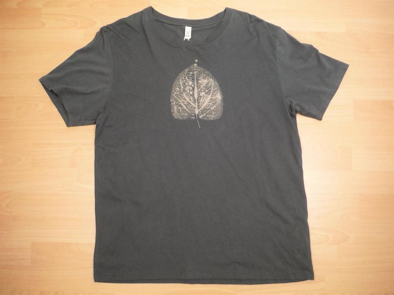 35324d56e247 Leaf T-Shirt 100% Organic Cotton Fair Trade Bleach Dyed Hand | Etsy