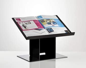 Recipe Book Stand | Desktop Lectern | Freestanding Notebook Holder | Premium Perspex Acrylic | Made in the UK