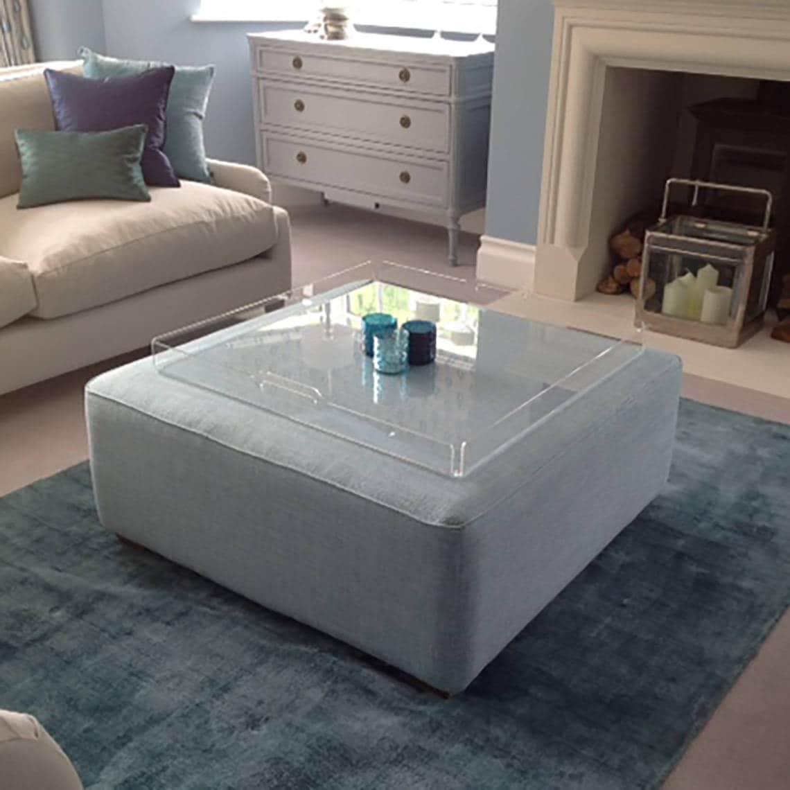 Footstool Tray Or Ottoman Tray Acrylic Tray Serving Tray