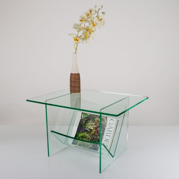 Glass Coffee Table With Magazine Rack 3