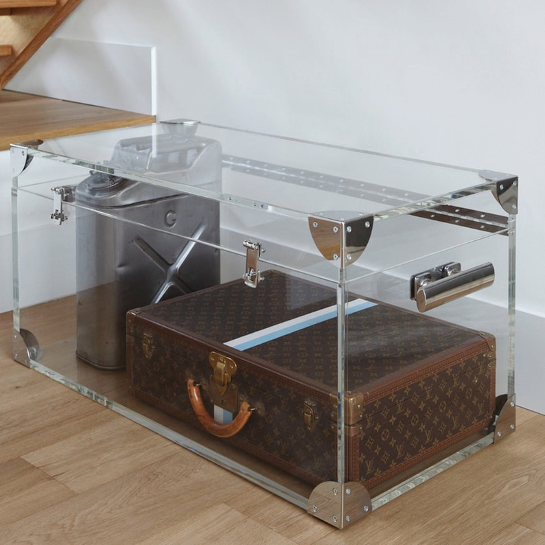Clear Acrylic Trunk / Coffee Table | Premium acrylic | Made in the UK