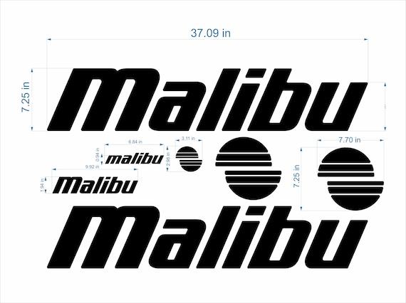 "FREE FAST delivery DHL express malibu response boat Emblem 64/"""