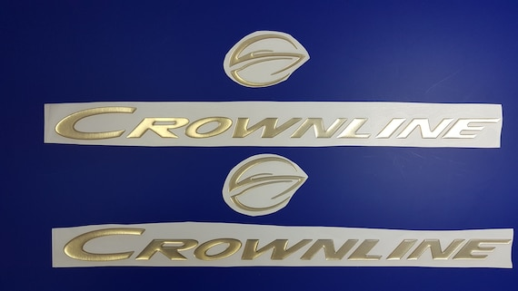 """stickers decal FREE FAST delivery DHLexpress CROWNLINE boat Emblem 20/""""gold"""